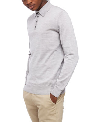 Oscar Jacobson Ruben Poloshirt L/S Light Grey