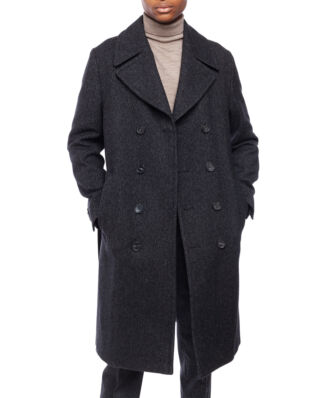 Oscar Jacobson Sten Coat Black Grey