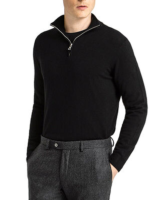 Oscar Jacobson Patton Half Zip Black