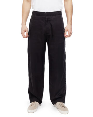 Our Legacy Drape Trousers Side Stripe Solid Black