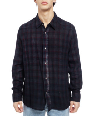 Our Legacy Fine Frontier Shirt Red/Blue Net Check/ Overdyed