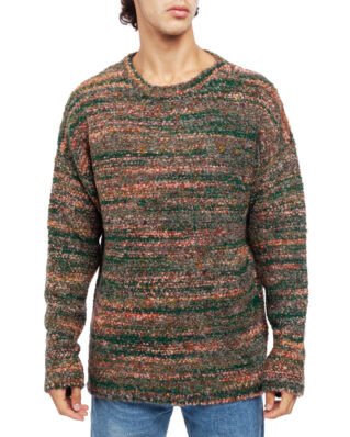 Our Legacy Popover Roundneck Red/Green Smudge Fair Isle