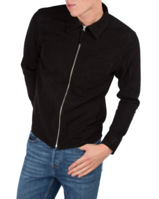 Our Legacy Suede Zip Shirt Black Suede