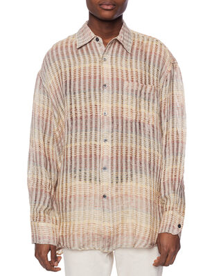 Our Legacy Borrowed Shirt Red Stripe Structure