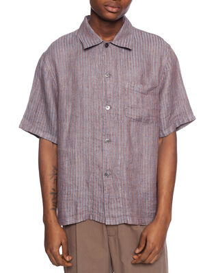 Our Legacy Box Shirt Shortsleeve Linen Stripe