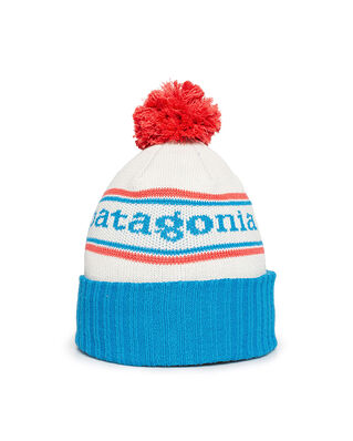 Patagonia Junior K's Powder Town Beanie Park Stripe Knit: Joya Blue