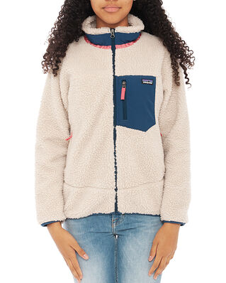 Patagonia Junior K's Retro-X Jkt Natural w/Stone Blue