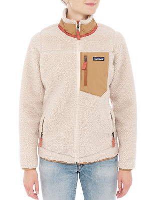 Patagonia W's Classic Retro-X Jkt Natural w/Nest Brown