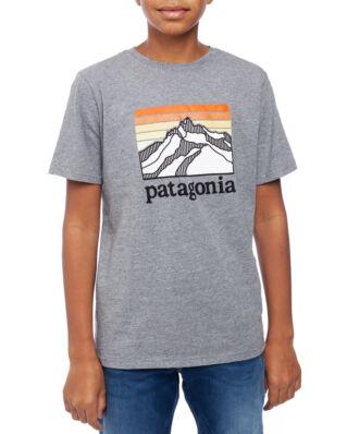 Patagonia Junior Boys Graphic T-shirt Line Logo Ridge Gravel Heather