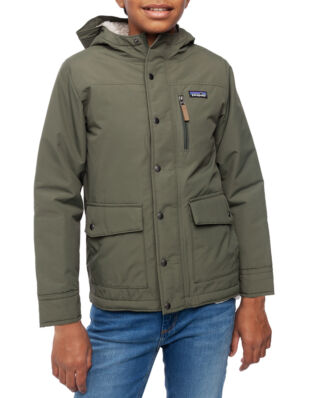 Patagonia Junior Boy's Infurno Jkt Industrial Green W/Coriander Brown