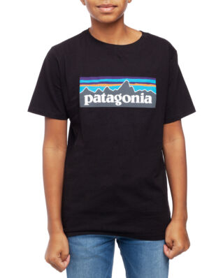 Patagonia Junior Boys P-6 Logo Organic T-shirt Black