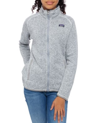 Patagonia Junior Girls Better Sweater Jkt Birch White