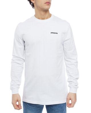 Patagonia M's L/S P-6 Logo Responsibili-Tee White