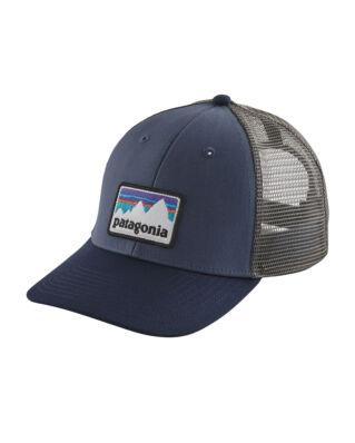 Patagonia Shop Sticker Patch LoPro Trucker Hat Dolomite Blue