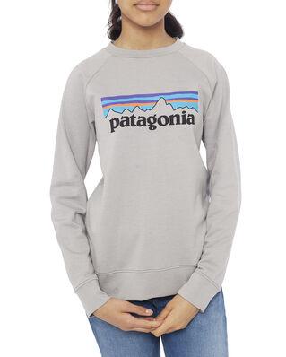 Patagonia Junior K's LW Crew Sweatshirt P-6 Logo: Drifter Grey