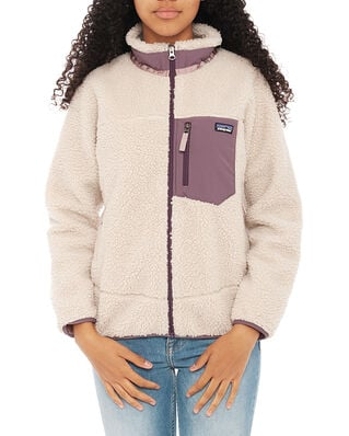 Patagonia Junior K's Retro-X Jkt Natural w/Hyssop Purple