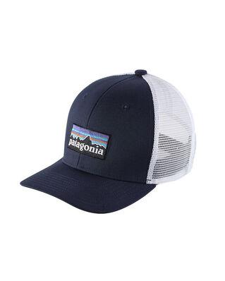 Patagonia K's Trucker Hat P-6 Logo: Navy Blue