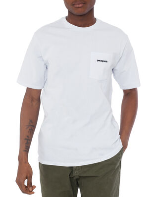 Patagonia M's P-6 Logo Pocket Responsibili-Tee White