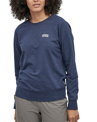 Patagonia W's Pastel P-6 Label Ahnya Crew Sweatshirt Stone Blue