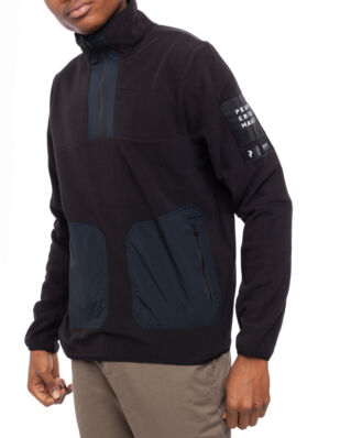 Peak Performance 2.0 Fleece Woven Turtle Neck Men Black