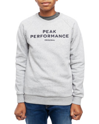 Peak Performance Junior Original Sweatshirt Kids Med Grey Mel