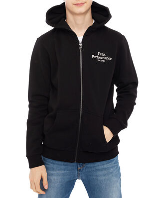 Peak Performance Junior Original Zip Hood Black