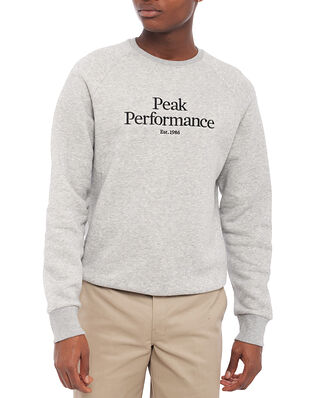 Peak Performance M Original Crew Med Grey Mel
