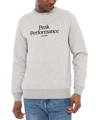 Peak Performance M Original Crew Med Grey Melange