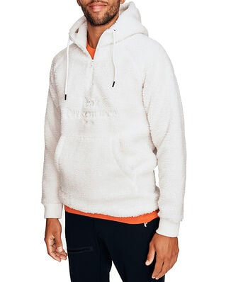 Peak Performance M Original Pile Zip Hood Offwhite