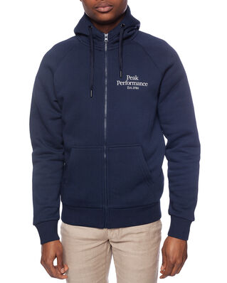 Peak Performance M Original Zip Hood Blue Shadow