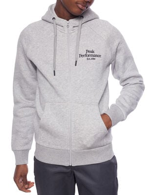 Peak Performance M Original Zip Hood Med Grey Mel