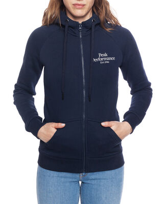 Peak Performance W Original Zip Hood Blue Shadow