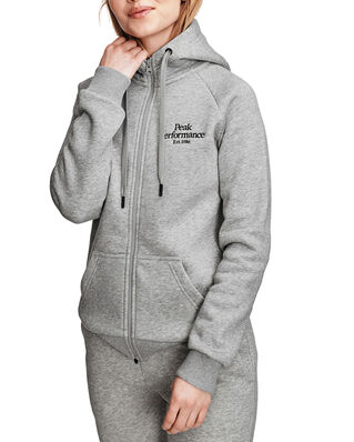 Peak Performance W Original Zip Hood Med Grey Mel