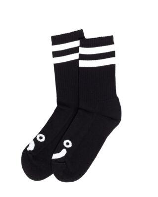 Polar Skate Co. Happy Sad Socks Black