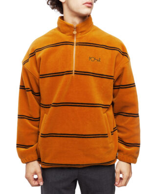 Polar Skate Co. Striped Fleece Pullover 2.0 Caramel