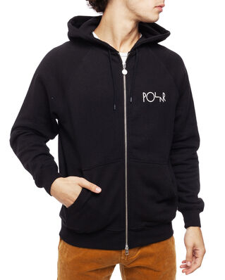 Polar Skate Co. Stroke Logo Zip Hoodie Black