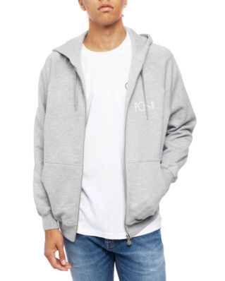 Polar Skate Co. Stroke Logo Zip Hoodie Heather Grey
