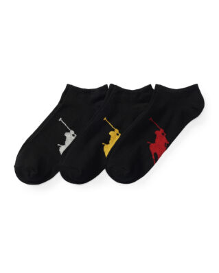 Polo Ralph Lauren Big Pony Sock 3-Pack Black