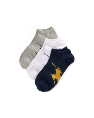 Polo Ralph Lauren Big Pony Sock 3-Pack Black/White/Grey