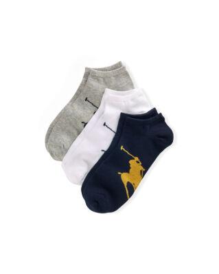 Polo Ralph Lauren 3-Pack Big Pony Socks Black/White/Grey