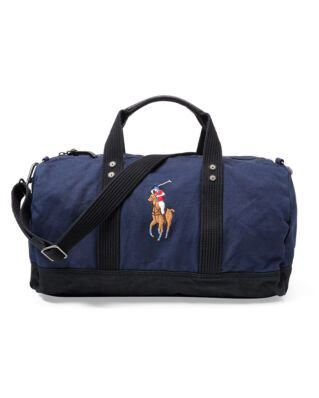 Polo Ralph Lauren Canvas Big Pony Duffel Bag Navy/Black