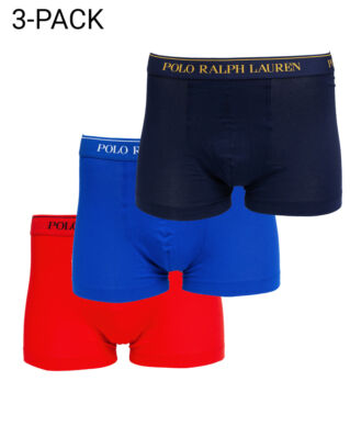 Polo Ralph Lauren Classic Trunk 3-Pack Nav/Saphir Star/Red