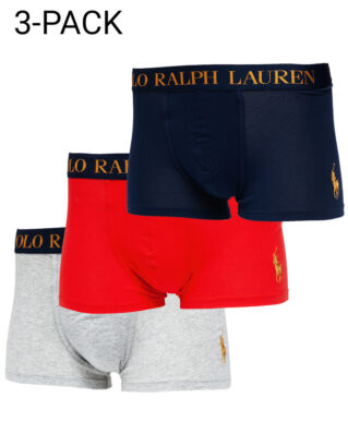 Polo Ralph Lauren Classic Trunk 3 Pack Cru Nvy/Rl Red/ And Hthr