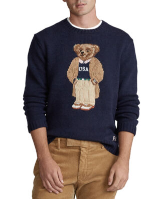 Polo Ralph Lauren Collegiate Bear Jumper Navy App Bear