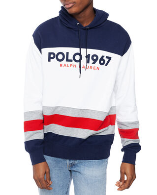 Polo Ralph Lauren Colour-Blocked Fleece Hoodie White Multi