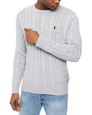 Polo Ralph Lauren Cotton Cable Sweater Andover Heather