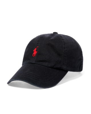 Polo Ralph Lauren Cotton Chino Baseball Cap RL Black