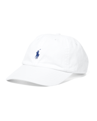 Polo Ralph Lauren Cotton Chino Baseball Cap White