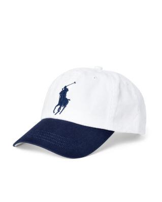 Polo Ralph Lauren Cotton Chino Baseball Cap White/Newport Navy