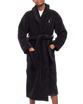 Polo Ralph Lauren Cotton Terry Shawl Robe Black